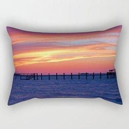 Edge of Black Rectangular Pillow