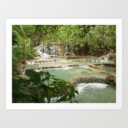 Zen Waterfalls Harmony #2 Art Print