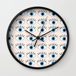 Blue evil eye Wall Clock