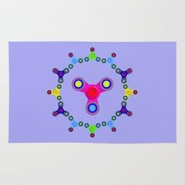 Fidget Spinner Design version 1 Rug