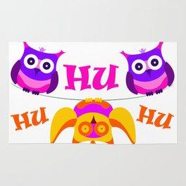 Triolium - owl party Rug
