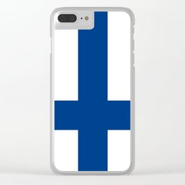Flag of Finland - High Quality Image Clear iPhone Case
