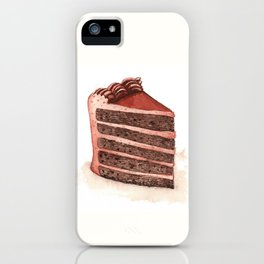 Chocolate Layer Cake Slice iPhone Case