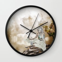 Fairy and the swan Wall Clock