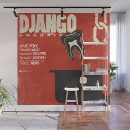 Django Unchained, Quentin Tarantino, alternative movie poster, Leonardo DiCaprio, Jamie Foxx Wall Mural