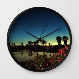 Sunset near the lake Wall Clock