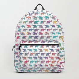 Elephants on Parade in Watercolor Backpack