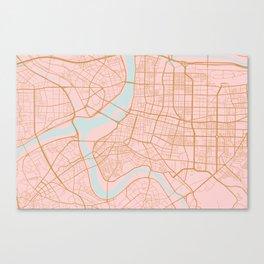 Taipei map, Taiwan Canvas Print