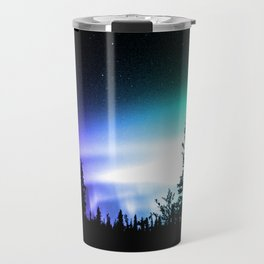 Aurora Borealis Forest Travel Mug