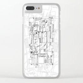 Conversation - b&w Clear iPhone Case