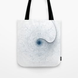Blue Crackle Spiral Tote Bag