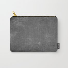 Gray and White School Chalk Board Carry-All Pouch