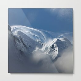 Blizzard in the High Mountains Metal Print