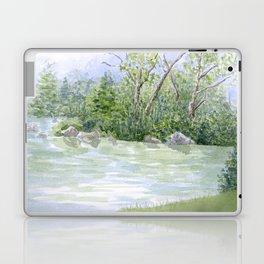 Lake Landscape Watercolor  Laptop & iPad Skin