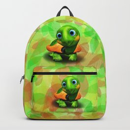 Green Turtle Baby 3D Backpack