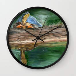 By The River by Teresa Thompson Wall Clock