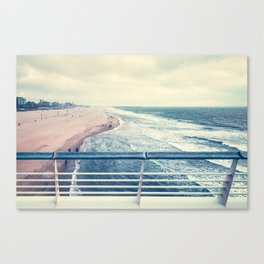 Beach at summer sunset Canvas Print