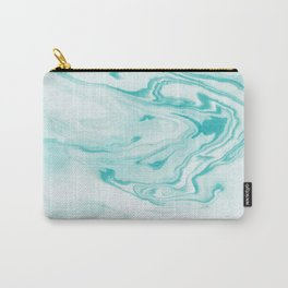 Aimi - spilled ink abstract water wave tropical vacation india ink aqua gender neutral painting boho Carry-All Pouch