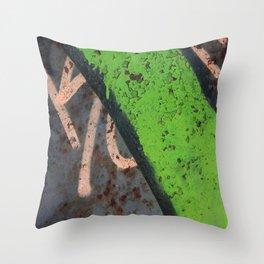 Rustin' piece Throw Pillow