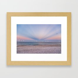 Sunrise Rays Framed Art Print