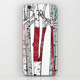 Birch Forest Yarn Bomb iPhone Skin