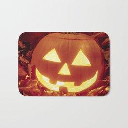 Halloween 🎃 Carved Lighted Pumpkin Bath Mat