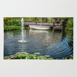 Fountain and Boat Rug