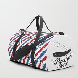 Barber Shop Pattern Duffle Bag