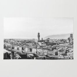 Black and white Florence - Italy Rug