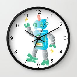 cartoon toy robot. Wall Clock