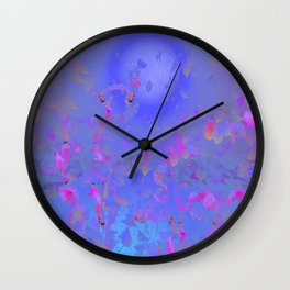 Pattern Lila Rose Wall Clock