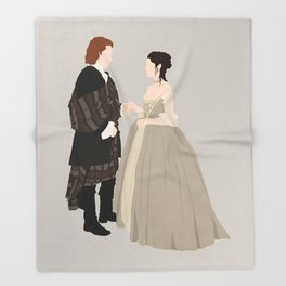 Outlander, Jamie and Claire Throw Blanket