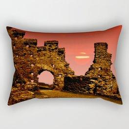 Sun Set Castle Rectangular Pillow