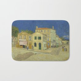 The Yellow House by Vincent van Gogh Bath Mat