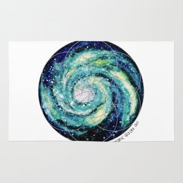 Spiral Galaxy with Seed of Life Rug