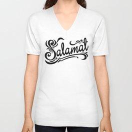 Salamat means Thank You! Unisex V-Neck