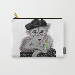 Monkey with beer Carry-All Pouch
