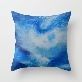 And the Heavens Opened up for Michael Throw Pillow