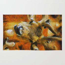 Golden Deer Rug