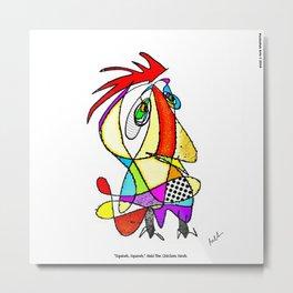 """Squawk, Squawk,"" said the Chicken Hawk Metal Print"