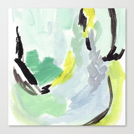 Twirl Green: Abstract Painting Canvas Print