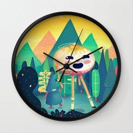 A Christmas Hike Wall Clock
