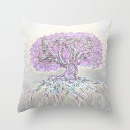Tree of Life Lightness of Air Throw Pillow