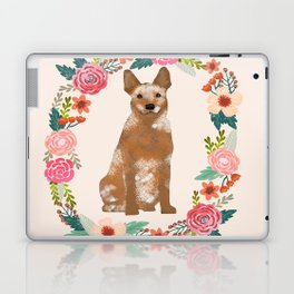Australian Cattle Dog red heeler floral wreath dog gifts pet portraits Laptop & iPad Skin