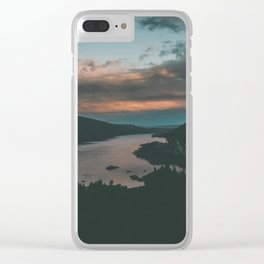 Columbia River Gorge Sunset Clear iPhone Case