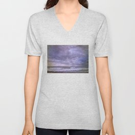Rain storm at the sea Unisex V-Neck