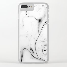 Elegant white marble image Clear iPhone Case