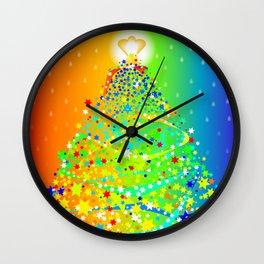 Ribbon Christmas Tree Wall Clock