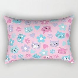 Kitty Cat Pattern by Everett Co Rectangular Pillow