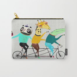Animals biking. bike art, bike decor, bikes. Carry-All Pouch
